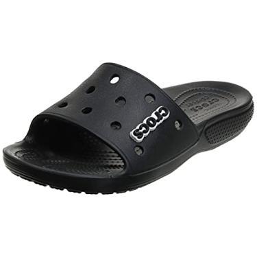 Imagem de Chinelo, Crocs, Classic Slide, Black, 43, Adulto Unissex