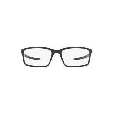 0d1a038a223a4 Óculos De Grau Oakley Frame Steel Line S Ox8097 809701 54 Preto
