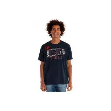 Camiseta Básica Manga Curta Azul Marinho 6add0d56cf15c