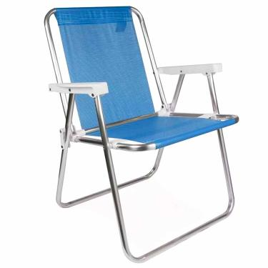 Cadeira de Praia Alumínio Alta Mor Sannet Azul 1025158