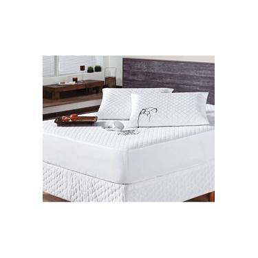 Imagem de Protetor para Colchão Casal Queen Impermeável Matelado - Branco