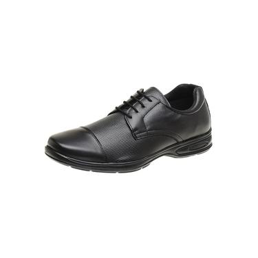 Sapato Casual Masculino Social Confort Ortopédico Couro