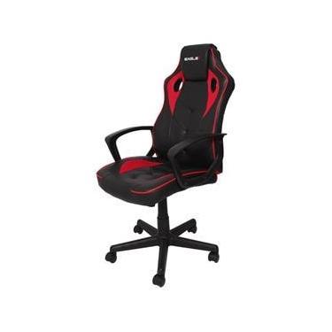 Cadeira Gamer Escritório EagleX S1 Reclinável Com Ajuste de Altura e Modo Balanço - Vermelho