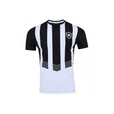4321fabd9c Camiseta do Botafogo Vision - Masculina - PRETO BRANCO Braziline