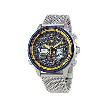 df2e578e133 Relógio Citizen Navihawk A-T JY8031-56L Pulseira Em Aço Inox Cronógrafo  Resistente À Água Pulseira