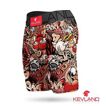Cueca Boxer Long Leg Kevland Grafite II Tamanho:GG;Cor:Laranja