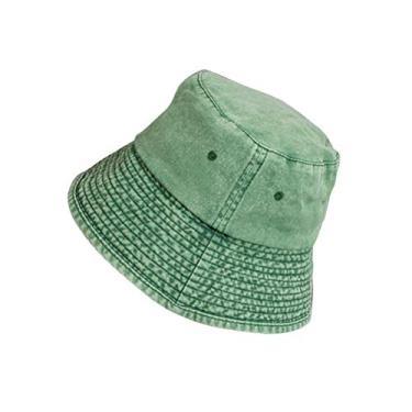 Chapéu bucket estilo japonês casual aba curta chapéu de sol dobrável (verde)