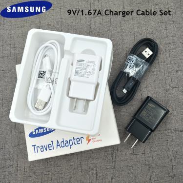 Samsung cabo usb original 9v1.67a, carregador de parede 15w, adaptador micro usb para galaxy s6 s7