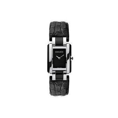 534abbce3a3 Relógio De Pulso Feminino Versace V121 Caixa Aço Pulseira Couro