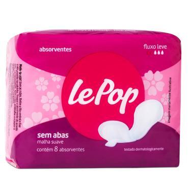 Absorvente Lepop Sem Abas 8 Unidades