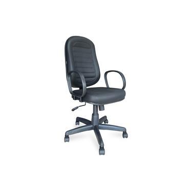 Cadeira Presidente BAIXA COSTURADA - Braço Corsa - COR PRETA - MARTIFLEX - 30102