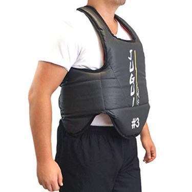 Protetor de torax para artes marciais Jugui (Numero 4, Preto/Vermelho)