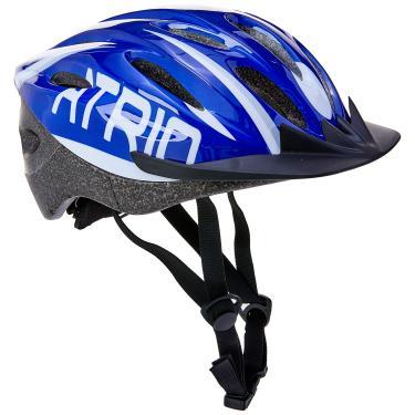 Capacete para Ciclismo MTB 2.0 Tam. M com LED Traseiro 19 Entradas de Ventilação Azul/Branco - BI166 Atrio Adultos