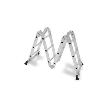 Escada 4x3 12 Degraus Multifuncional Articulada Com 2 Plataformas Mor