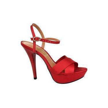3014af0cd Sandália Salto Vizzano Vermelho | Moda e Acessórios | Comparar preço ...