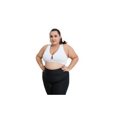 Top Nadador Fitness Plus Size - Branco