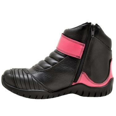 Bota Atron Shoes Motociclista Rosa  unissex