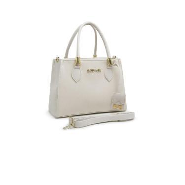 Bolsa GOUVEIA COSTA Tote-Shopper Casual  Alça Mão Zíper Dia a Dia Branco  feminino