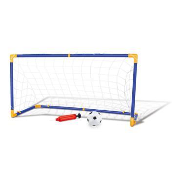Imagem de Trave e Bola Infantil Chute a Gol Kit com Rede Bomba Brinquedo Futebol DM Toys DMT5075