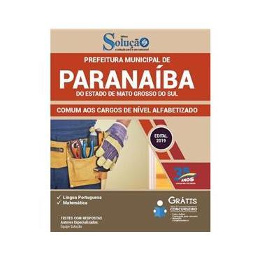 Imagem de Apostila Paranaíba Ms 2019 Cargos De Nível Alfabetizado