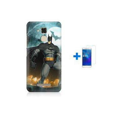 Kit Capa Tpu Zenfone Max Zc520tl Batman + Pel Vidro (bd01)