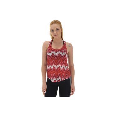 ff680068f324e Camiseta Regata Colcci Fitness Estampada - Feminina - VERMELHO BRANCO Colcci