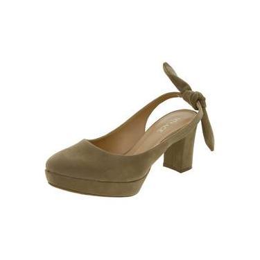 fea256f6dc Sapato Feminino Salto Médio Cáqui Mixage 3689020