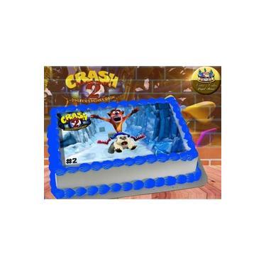 PS4 XBOX GAME - Papel De Arroz Comestível Para Bolo Crash Bandicoot II A4 20x30cm Mod.06
