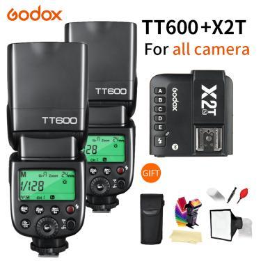 Imagem de Godox-flash speedlite tt600 tt600s, 2.4g, sem fio, ttl, 1/8000s, com gatilho para canon, nikon,