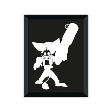 Poster de Ratchet e Clank Preto Com Moldura - Branco