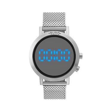 Relógio de Pulso Feminino Euro Digital   Joalheria   Comparar preço ... c2a1021e21