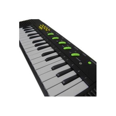 Imagem de Piano Teclado Infantil Brinquedo Crianca Microfone Cantar Karaoke