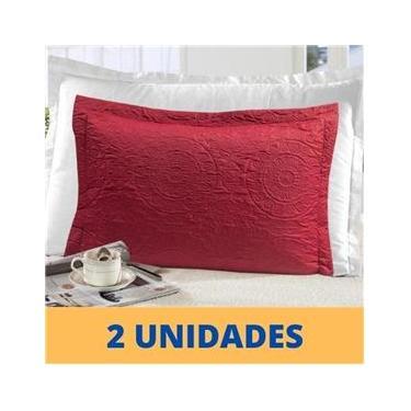 Imagem de Kit 2 Porta Travesseiro Matelado Fronha Com Abas Premium