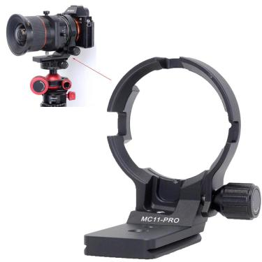 Ishoot lente colar tripé montagem anel suporte para canon EF-E sigma MC-11 montagem conversor lente
