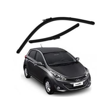 Kit Palhetas Limpador de Parabrisa Dianteiro Hyundai HB20 Ano 2013 - Atual