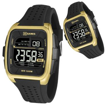 2dd2ec779eb Relógio Masculino X-Games XGPPD105 PXPX Preto Dourado