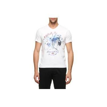 Camiseta Puramania Gola V Malha