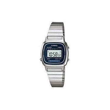 a0e1b901304 Relógio Casio Feminino Digital Vintage La670wa2df - Prata
