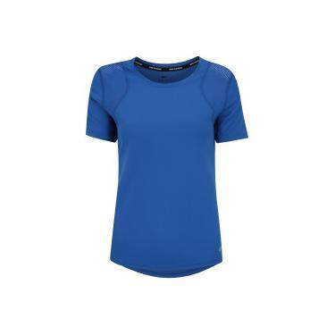 4627963cef791 Camiseta Nike Run Top SS - Feminina - AZUL Nike