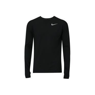 08ce14211c Camiseta Manga Longa Nike Dry Element Crew - Masculina - PRETO Nike