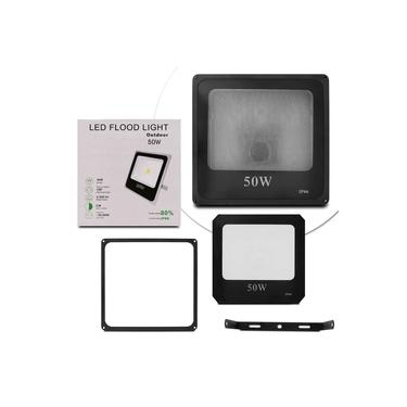 Carcaça Refletor Led Holofote 50W Smd Bivolt IP66 Resistente Água Ferro Jardim Fachada Reposição