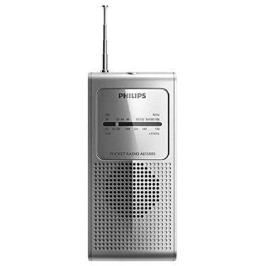 Rádio Philips Portátil a Pilha Am fm 1500 Preto