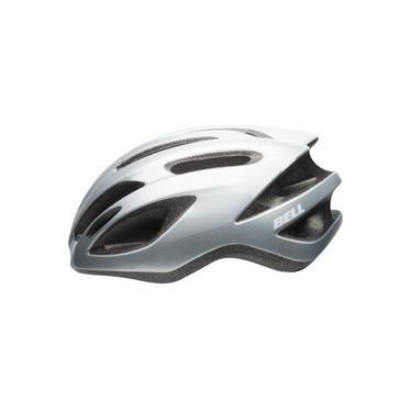Capacete Ciclismo Bike Bell Crest R Mtb Cinza Prata Branco