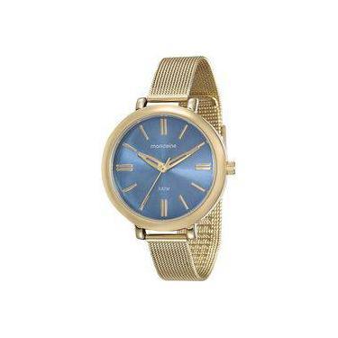 f33b07ee416 Relógio Mondaine Feminino Dourado 76616LPMVDE3