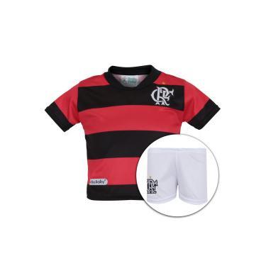 Kit de Uniforme de Futebol do Flamengo para Bebê  Camisa + Calção - Infantil  - adb735c16c9