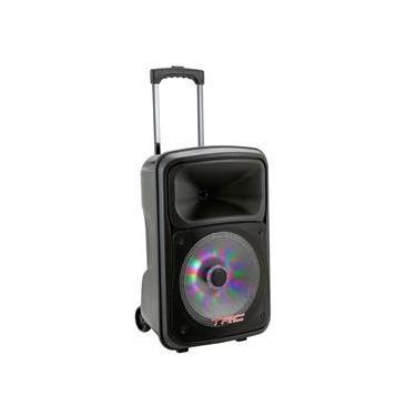 Caixa de Som Amplificada TRC 536 com Bluetooth, Rádio FM, Entrada USB e Iluminação Frontal em Led - 480W