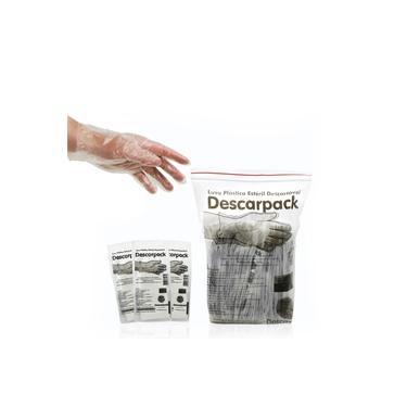 Luva de Procedimento uso Único Descarpack Pacote com 100 Unidades