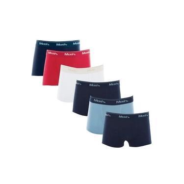 Kit Com 10 Cuecas Boxer Algodão Mash Infantil/juvenil