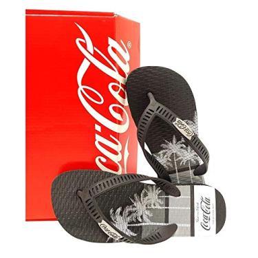Coca-Cola Mani Sandália, Masculino, Preto, 37/38