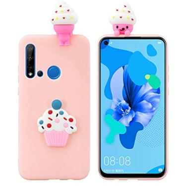 Hicaseer Capa para Huawei P20 Lite (2019)/Nova 5i, linda capa criativa de TPU à prova de quedas à prova de choque e resistente a arranhões para Huawei P20 Lite (2019)/Nova 5i - Sorvete fofo